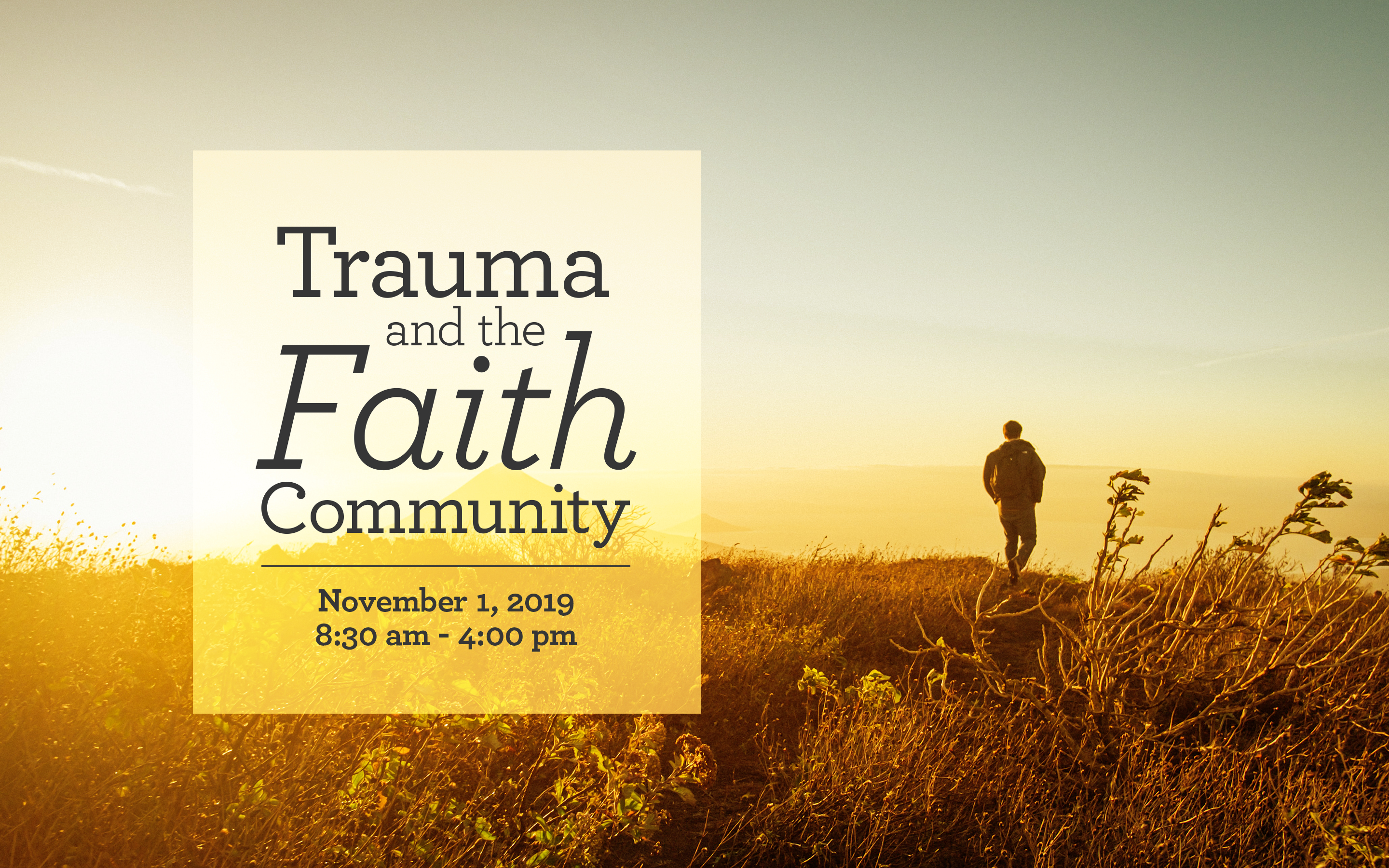 Image: Trauma and the Faith Community Conference
