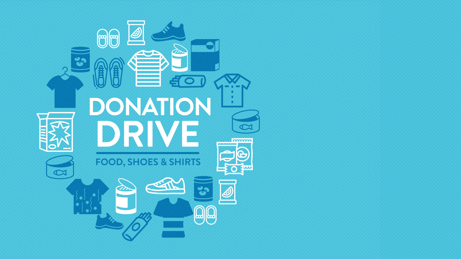 Image: Donation Drive – Food, Shoes, and Shirts